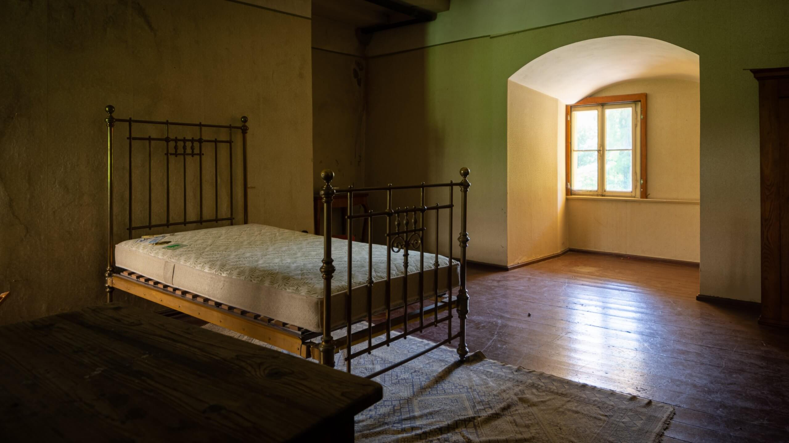 Lost Places Fototour Schloss Bückeburg - Zimmer mit Bett